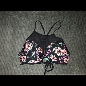 Floral swimsuit top